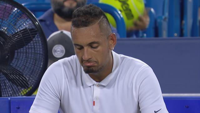 US Open 2019: La enésima discusión de Kyrgios con un silla que le costó un warning por mala conducta