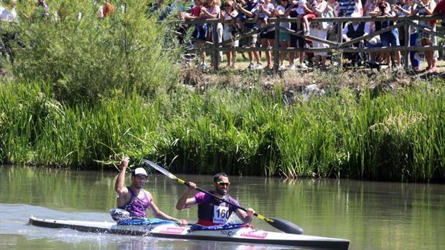 Los asturianos Estomba y Bouzán se imponen en el 55 Descenso del Pisuerga