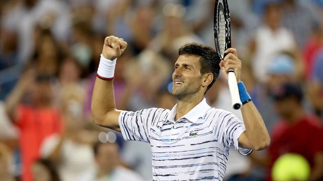 Accroché dans le deuxième set mais convaincant, Djokovic a sereinement pris son quart