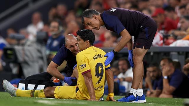 Le Barça confirme la blessure de Suarez... qui pourrait être absent un mois