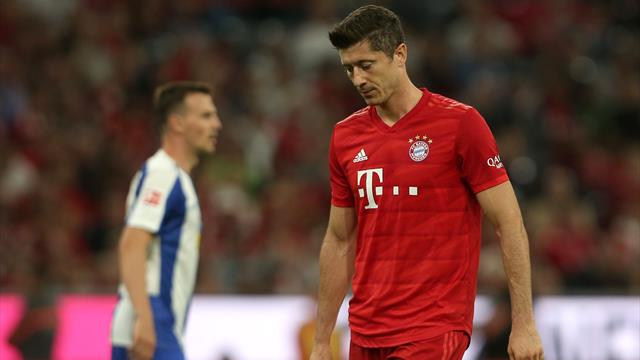 Lewandowski non basta, il Bayern stecca la prima: solo 2-2 con l'Hertha Berlino
