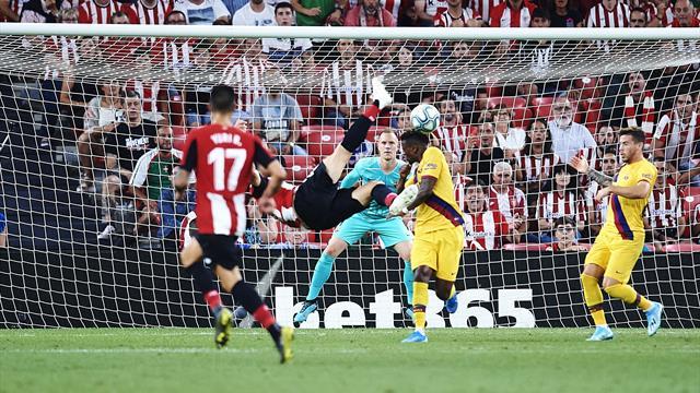 Mamma mia ! La reprise acrobatique venue d'ailleurs d'Aduriz a mis le Barça à terre