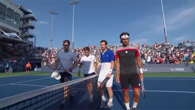 Highlights: Jamie gets better of Andy Murray in doubles showdown