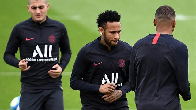 Neymar trains with PSG team-mates as transfer rumours whirl