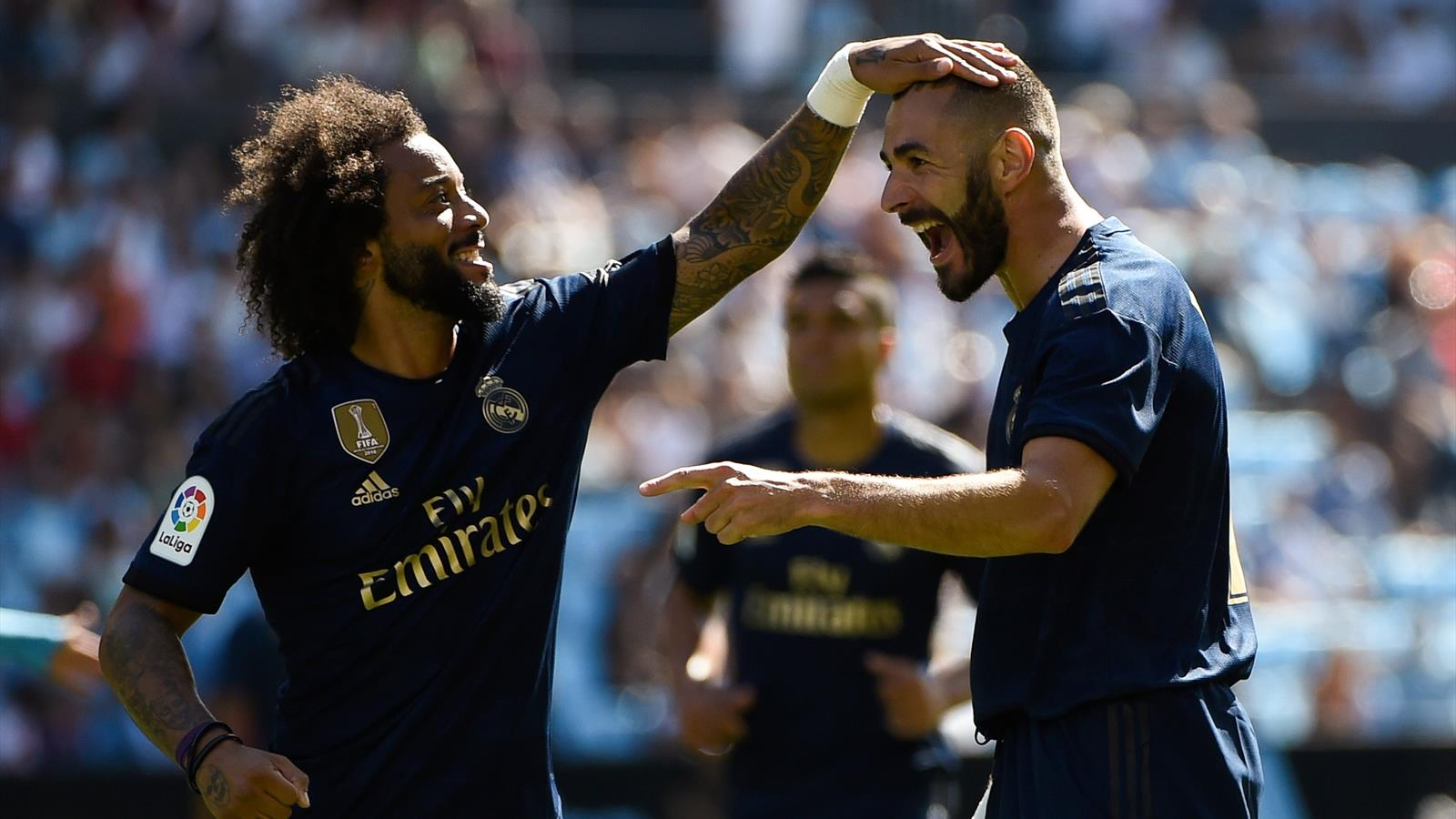 Football news - Karim Benzema on target as 10-man Real