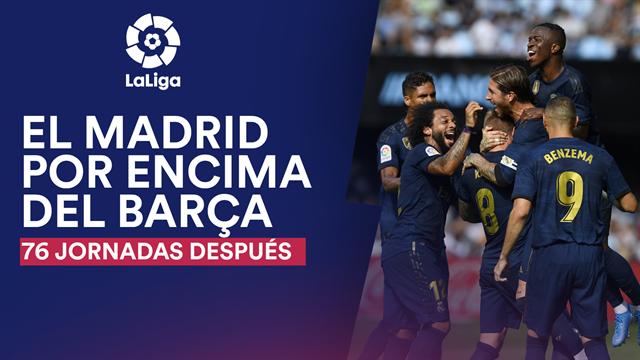 El Real Madrid vuelve a estar por delante del Barça después de 818 días