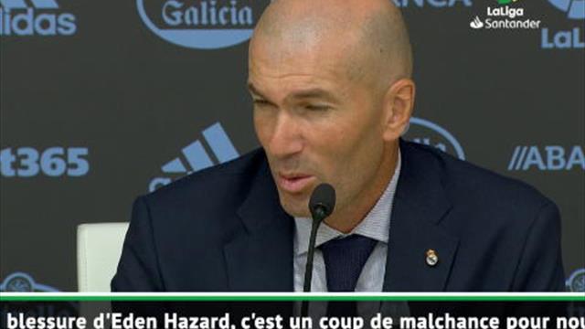 """1ère j. - Zidane : """"La blessure d'Eden Hazard ? C'est pas de chance"""""""