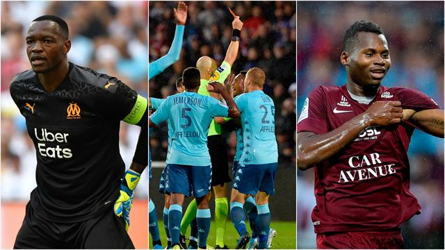 Mandanda de retour, pluie de cartons, Diallo le goleador : les tops et les flops de samedi