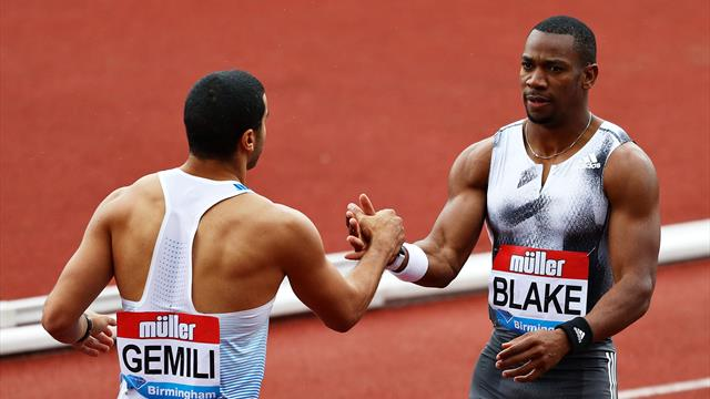Blake edges Gemili in Birmingham 100m showdown