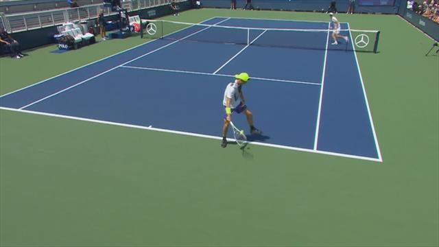 Изумительный твинер немецкого теннисиста, после которого к нему на курсы запишется сам Федерер