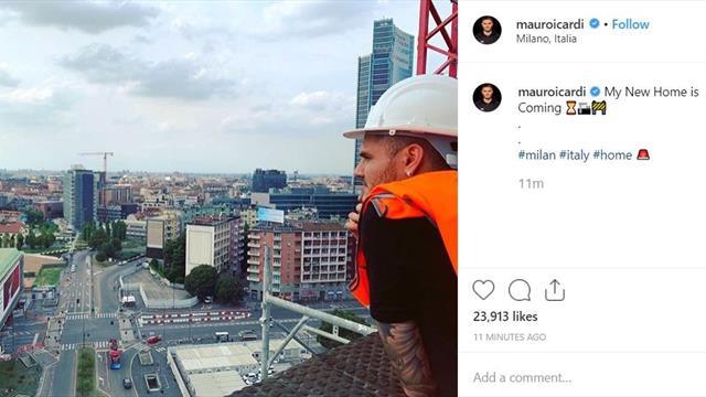 Icardi mostra la sua 'nuova casa'...a Milano. Messaggio all'Inter?