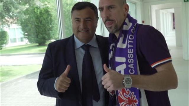 La première journée de Ribéry avec la Fiorentina