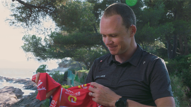 Chris Froome receives 'incredibly special' red jersey