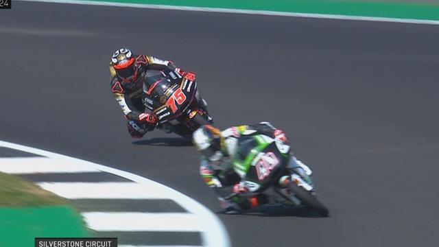 GP Groot-Brittannië  Arbolino snelste tijd van de dag in Moto3; Arenas snelste tijd FP2