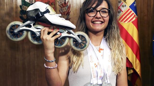 Nerea Langa, la 'bala' sobre patines que quiere conquistar Europa