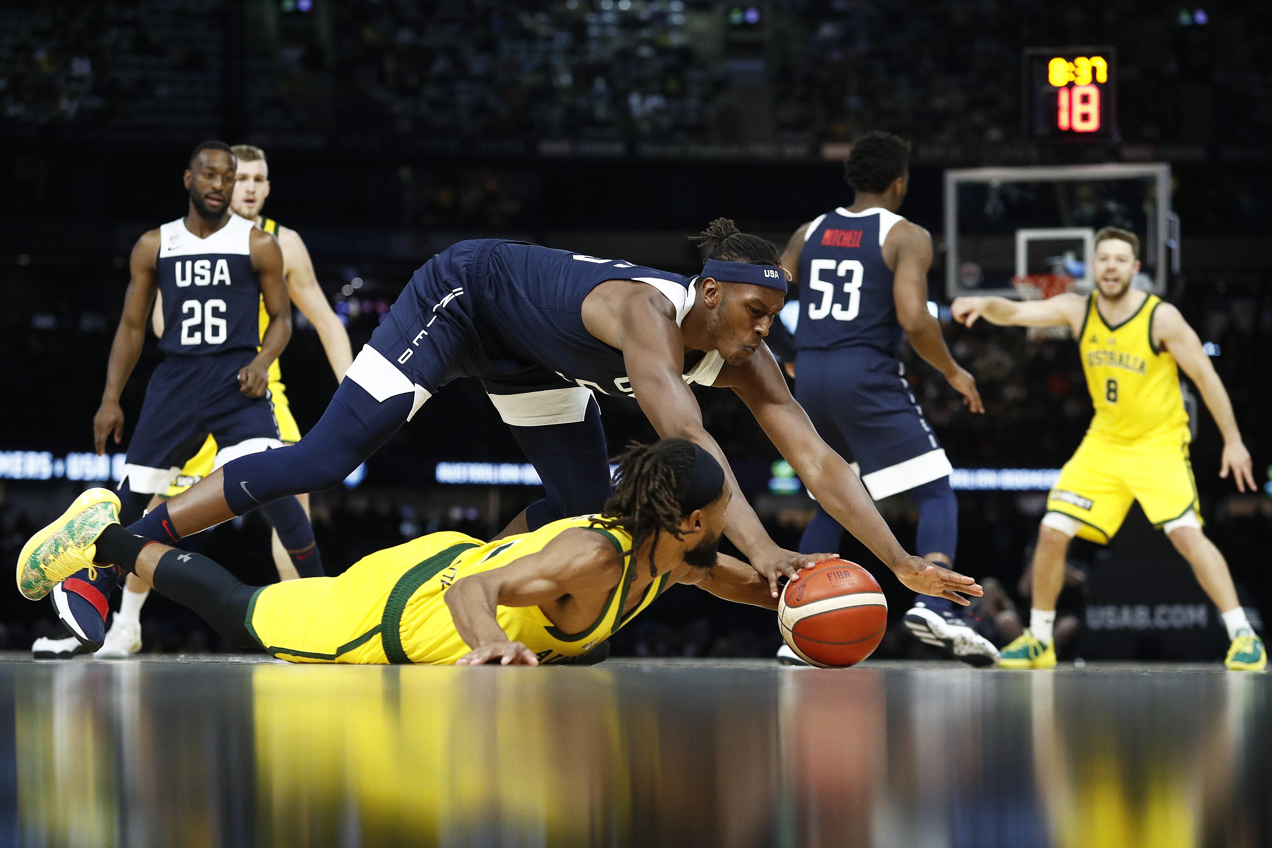 Amerika Basketbol Milli Takımı, Avustralya ile oynadıkları hazırlık maçından