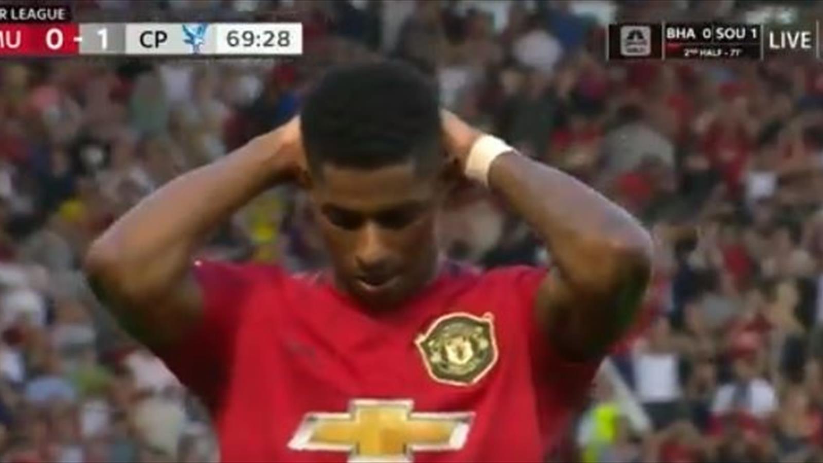 Голы матча «Манчестер Юнайтед» – «Кристал Пэлас» (видео) – 3-й тур чемпионата Англии