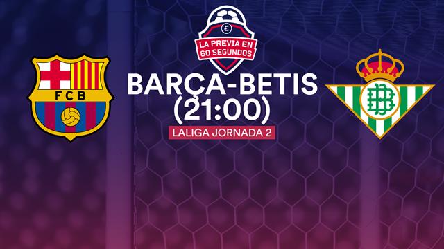 La previa en 60 segundos: Barça-Betis (21:00)