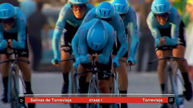Vuelta kompakt: Astana rast zum Sieg auf der 1. Etappe