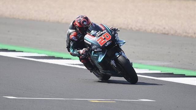 Warm-up: Quartararo beffa Marquez, Dovizioso è 3° davanti a Valentino Rossi