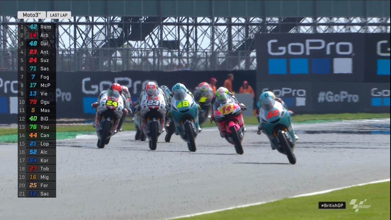 MotoGP Groot-Brittannië: Marcos Ramirez wint Moto3