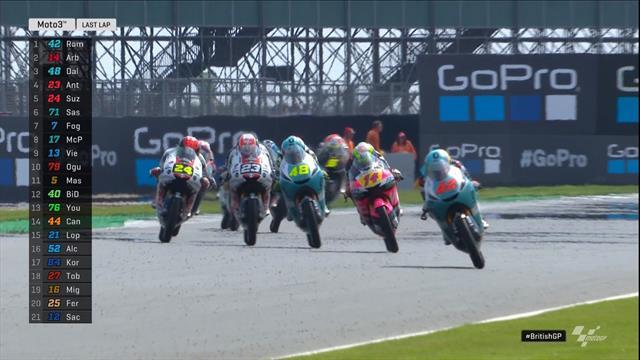 Moto3 | Winst British GP Ramirez - Canet houdt schade beperkt na val
