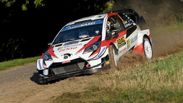 Tanak seals third straight win in Germany, Toyota sweep podium