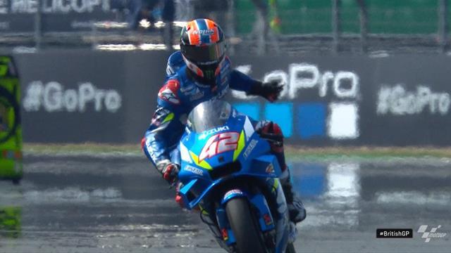 MotoGP | Alex Rins wint sensationele GP van Groot-Brittannië