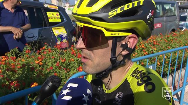 """Vuelta a España 2019, Mikel Nieve: """"La subida ha sido más dura de lo que esperábamos"""""""