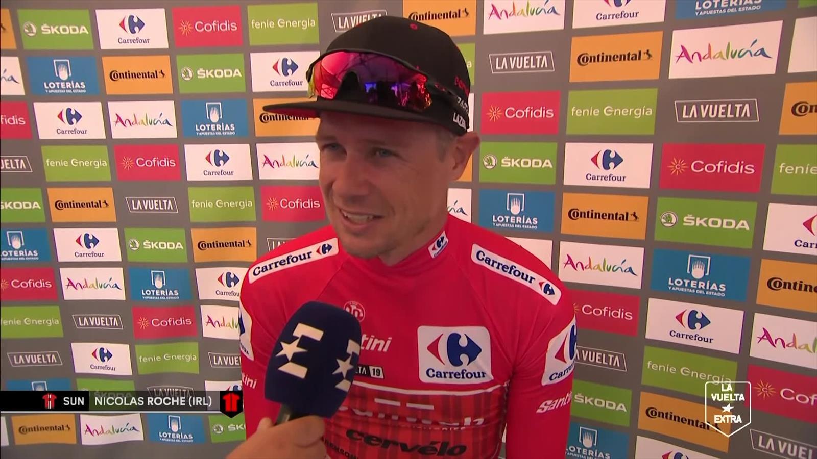 """Nicolas Roche na etappe 2 Vuelta 2019: """"Geen idee hoe we deze gaan verdedigen"""""""