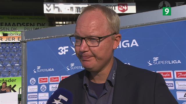 Glen Riddersholm ærgerlig over afgørende dommerkendelser i nederlaget til FC Midtjylland