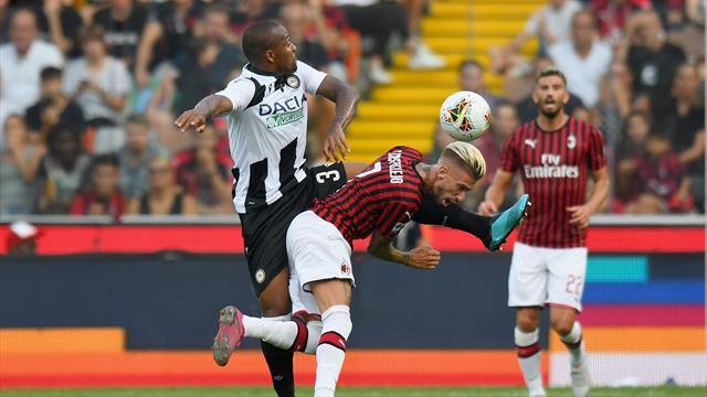 Milan al fotofinish, Udinese battuta 3-2