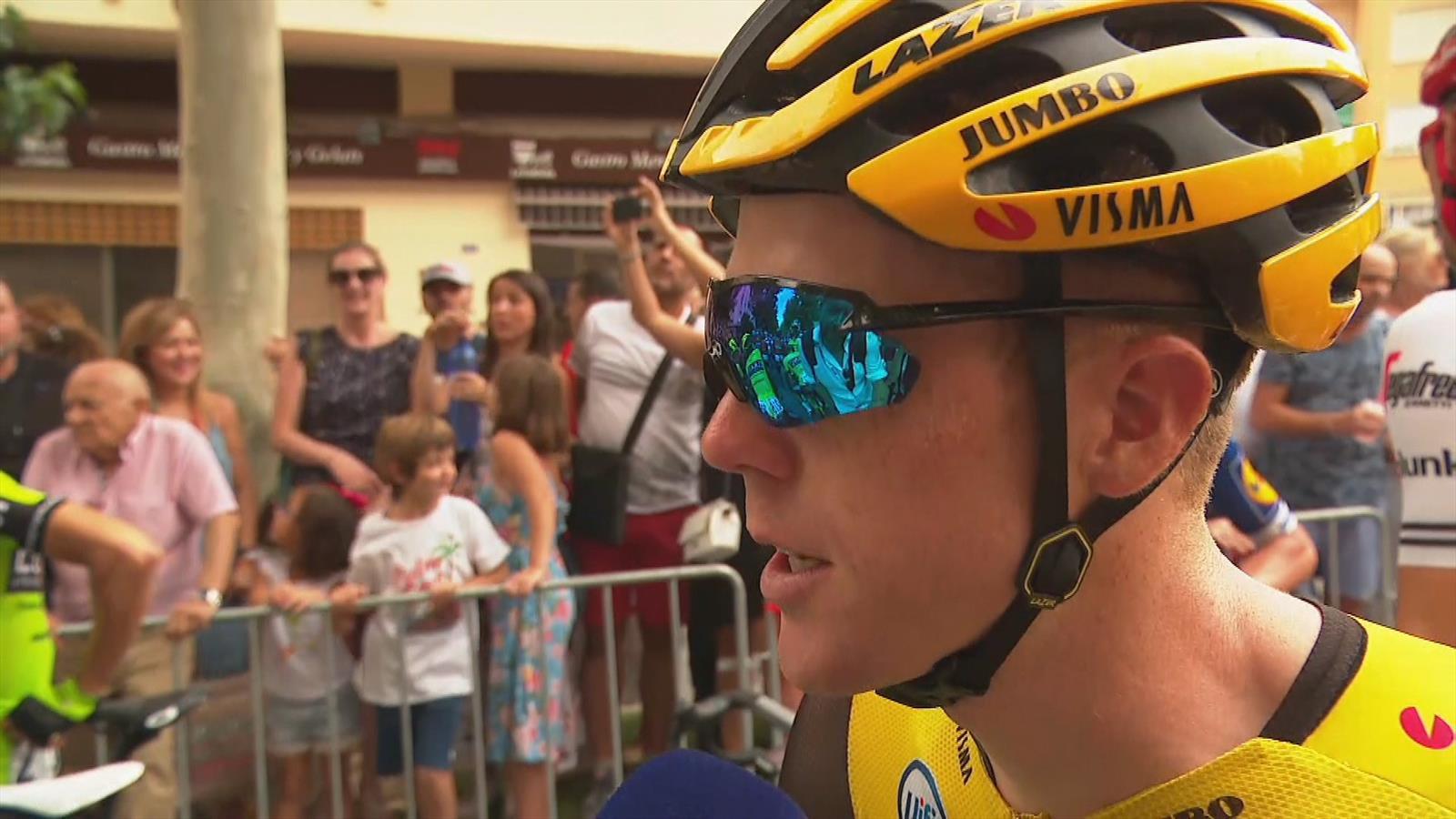 """Steven Kruijswijk in de problemen in de Vuelta: """"Hopelijk wordt het beter"""""""