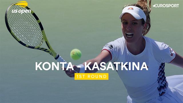 US Open samenvatting |  Konta - Kasatkina