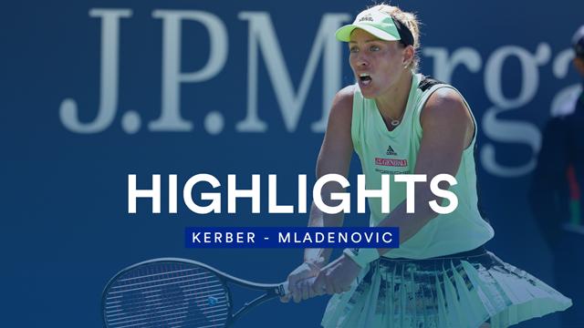 Une grosse frayeur puis Mladenovic s'est surpassée pour battre Kerber : sa victoire en vidéo