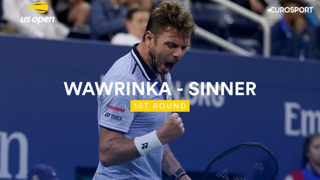US Open: Wawrinka-Sinner 6-3 7-6 4-6 6-3, gli highlights