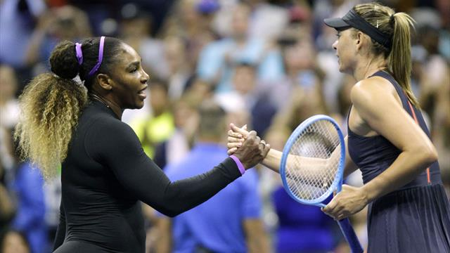 Serena routs Sharapova to reach US Open second round