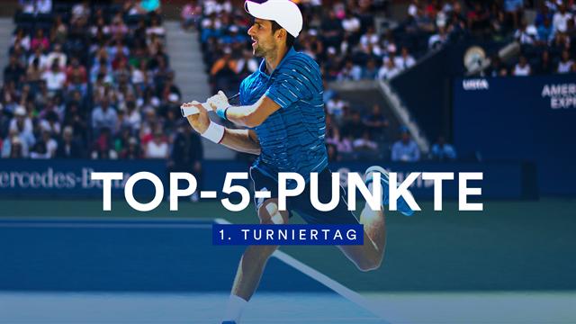 Top-5-Punkte: Djokovic eiskalt mit No-Look-Volley