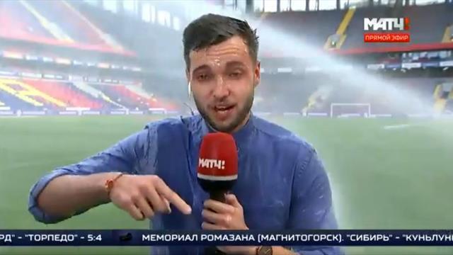Quand un journaliste sportif prend l'eau en Russie