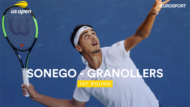 US Open: Sonego-Granollers 6-3 6-4 6-4, gli highlights