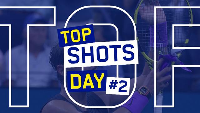 De 5 mooiste punten van Dag 2 van de US Open