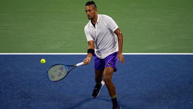 Kyrgios keeps mostly calm and carries on at US Open