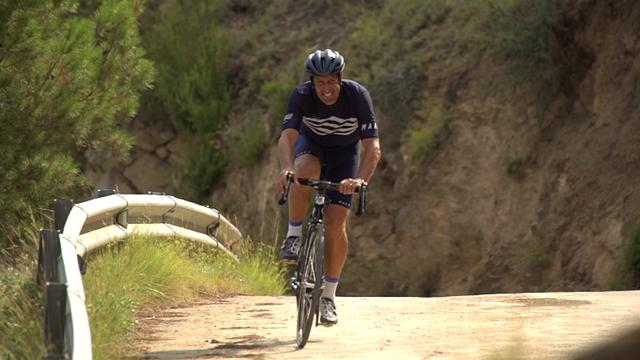Flecha tackles the 'wall' of Alto Mas de la Costa in Stage 7 recon