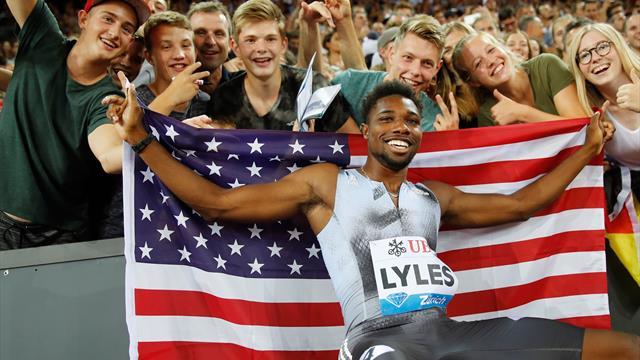 Warholm et Benjamin sur une autre planète, Lyles roi du 100m