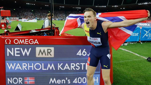 Warholm runs second-fastest time in HISTORY in 400m hurdles