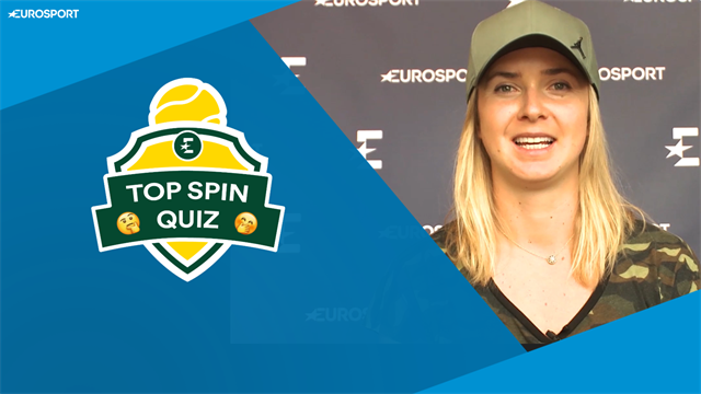 Elina Svitolina takes on the Top Spin Quiz!