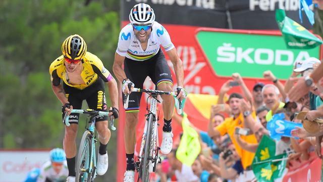Colpo del campione del mondo! Vince Valverde, Lopez riprende la roja, reazione di Aru