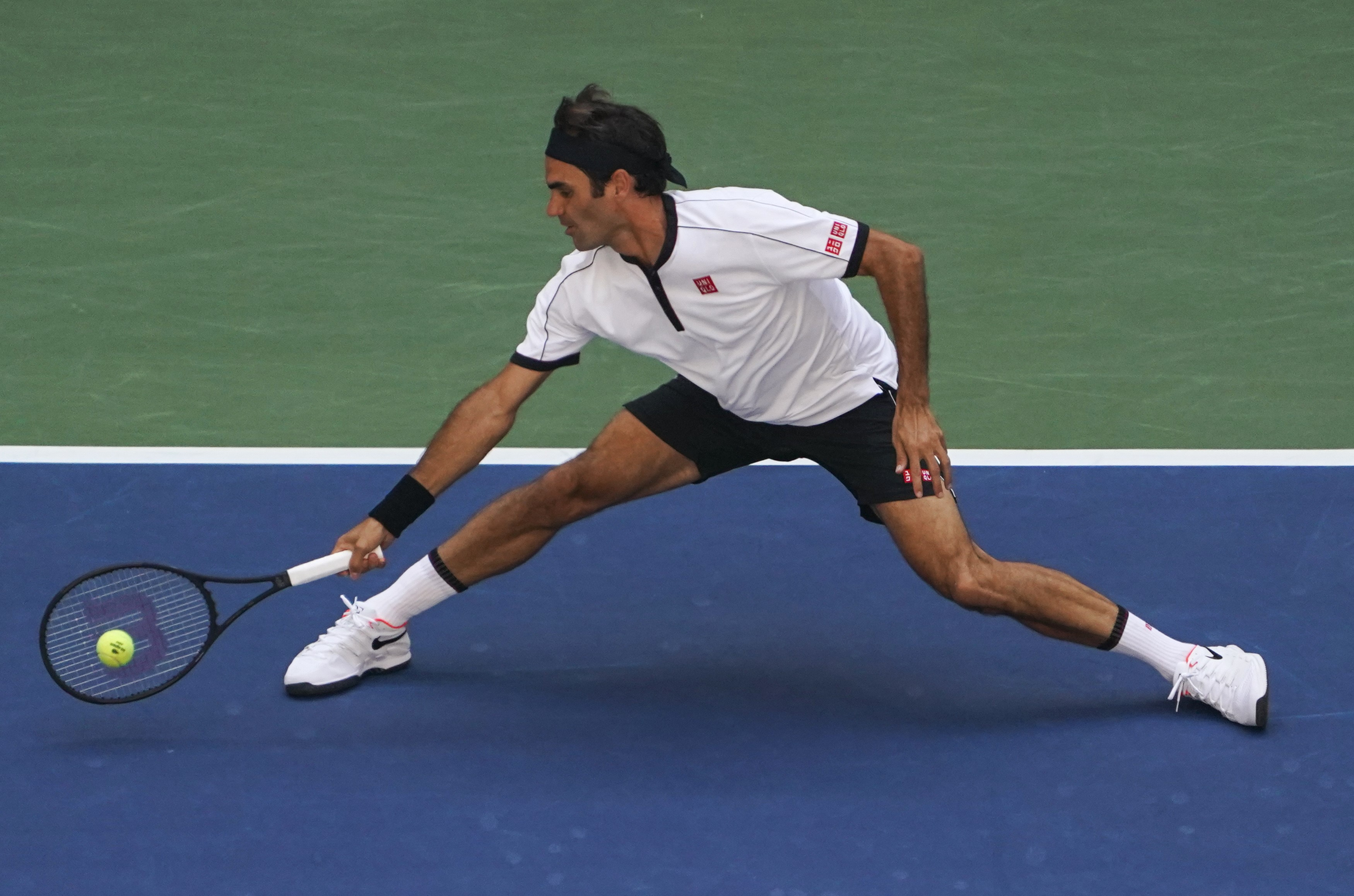 Roger Federer lors de l'US Open 2019