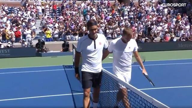 Федерер впервые на US Open уложился в 3 сета