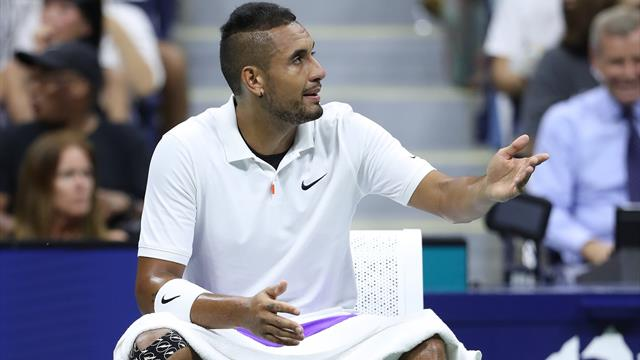 Kyrgios labels line judge 'whistleblower' in defeat to Rublev